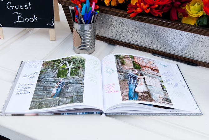 Signature Photo Book: Engagement Photography Keepsake & Wedding Guestbook