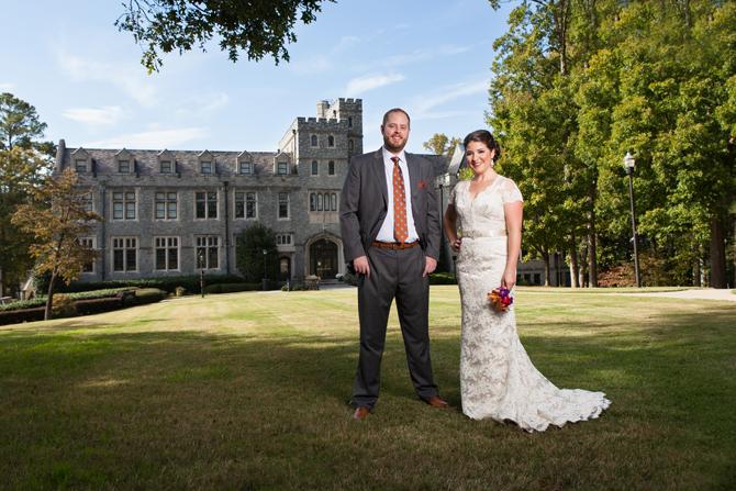 Oglethorpe University Wedding in Atlanta, GA, husband and wife Atlanta wedding photography